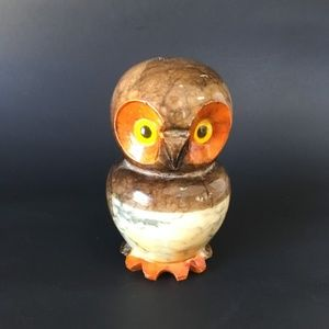 Hand Carved Genuine Alabaster Owl Made in Italy